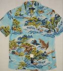 -Polo Ralph Lauren Hawaiian Landscape Print Camp Viscose Shirt L & XL NWT $125