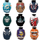 NFL Fans Fashion Men's Soft Hoodies Sweatshirt Jackets Support suit AFC NFC US! on eBay