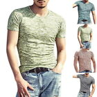 Fashion Mens Summer Casual T-Shirts Short Sleeve Slim Fit T-Shirts Workout Tee G