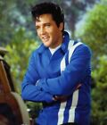 Elvis Presley Speedway 1968 Red and Blue Faux Leather Slim Fit Motorcycle Jacket