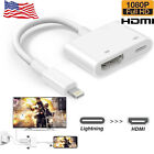 For iPhoneX XS Max iPad Mini Lightning to HDMI AV TV Adapter Cable White Useful