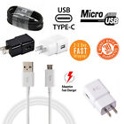 Micro USB Charging Cable Data Sync Cord + Wall Charger for Android Smart Phone