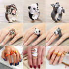 Trendy Animal Shape Adjustable Finger Open Ring Band Jewelry Cute Ring Hot