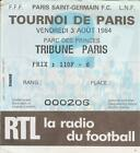 USED TICKET - PSG - PARIS SAINT GERMAIN - DIVISION 1 - LIGUE 1 - ANNÉES 80