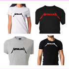 METALLICA Printed Logo T-Shirt  Rock Metal Tee image