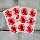 Poppy Flower Stickers Decals Water Colour Wall Window Car Remembrance Day