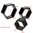 3Pcs Hexagon Shape Wall Mounted Floating Wine Shelf Shelves Display Storage Case