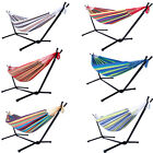 Double Hammock & Space Saving Stand w/ Includes Carrying Case Garden Patio New