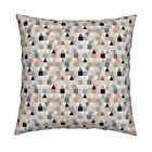 Geometric Square Triangle Throw Pillow Cover w Optional Insert by Roostery