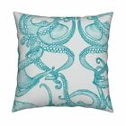 Cephalopod Octopi Octopus Under Throw Pillow Cover w Optional Insert by Roostery