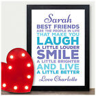 Personalised Best Friends Friendship BFF Gifts for Birthday Her Girls She BFF