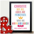 Personalised Female Super Hero Birthday Gifts for Girls Daughter Granddaughter