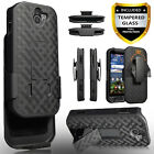 For Kyocera DuraForce Pro 2 Phone Case, Holster Belt Clip Cover+Glass Screen