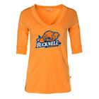 Official NCAA Bucknell Bison - Women's 3/4 Sleeve Fitted Football V-Neck Tee