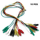 10 Pcs Crocodile Alligator Clips Cable Electrical DIY Jumper Lead Testing Wires~