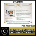 2018 TOPPS DEFINITIVE COLLECTION BASEBALL 3 BOX BREAK #A155 - PICK YOUR TEAM on Ebay