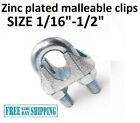 Galvanized Cable Clamps U-Bolts U-Clamps Steel Aircraft Cable Wire Clips U Bolts
