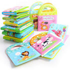 Baby Cartoon Rattles Toy Cloth Book Infant Development Learning Newborn Toddler