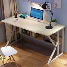 Computer Table Modern Desk Home Office Study Workstation Writing Furniture BK/WH