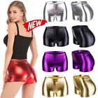 Fashion Women Hot Pants Metallic Shiny Shorts Party Disco Tight Dance Clubwear Y