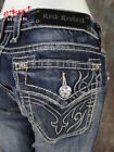 Womens ROCK REVIVAL ISABELLA Straight Leg Jeans Embossed Tribals Style RJ836206
