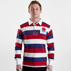 VX-3 Mens England 2019/20 Vintage Stripe Rugby Shirt Top Long Sleeve White