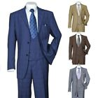 Men's 3 Piece Luxurious Suit With Vest Pants Two Button Two Side Vents