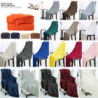 Soft Knitted Throw Blanket Cable Textured Solid Warm Sofa Couch Bed Multi Color image