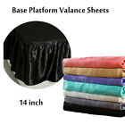 "Ruffle Wrap Around Bed Skirt Satin Silk 14"" Drop 4 Size image"