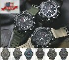 NEW Mens Army Military Watch Quartz Waterproof Analog LED Mens Watches Luxury image