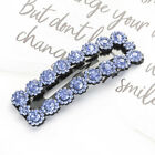 2PCS Women Small Flower Crystal Snap Hairpin Hair Clips Slide Hair Accessories