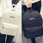Womens Men Canvas Day Night Backpack School College Rucksack Casual Travel Bags
