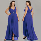 US Plus Size Long Chiffon Bridesmaid Gown Party Cocktail Evening Prom Dress 9983