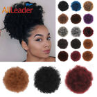 Puff Afro Hair Bun Wrap On Ponytail Extensions Drawstring Clip In Curly Chignon
