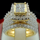 Women 18k Yellow Gold Plated Crystal Zircon Rings Set Aaaaa Cz Jewelry Size 6-10