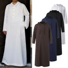 Kyпить Men Hooded Arab Saudi Jubba Dishdash Islamic Abaya Thobe Casual Long Kaftan Top на еВаy.соm