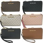 Kyпить Michael Kors MK Jet Set Travel Double Zip Phone Wristlet Wallet  на еВаy.соm