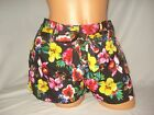 Glo Womens Shorts Tie Front Belted Silky Bottoms Solid Floral