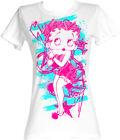 Betty Boop 1930's Cartoon Colorful Sketch Womans Fitted T Shirt £25.73 GBP on eBay