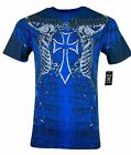 XTREME COUTURE by AFFLICTION Men T-Shirt AFTERSHOCK Tatto Biker MMA Gym S-4X $40 image