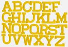 """YELLOW - 2"""" Alphabet/Letters - your choice - Iron on Applique/Embroidered Patch"""