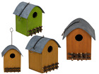 Wooden Bird House With Fence - Cute Garden Decoration Bird Friendly Outdoor