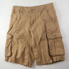 BOYS CARGO SHORTS KHAKI COTTON ADJUSTABLE WAIST SIZE 8 OR 10 ARIZONA BRAND NWT
