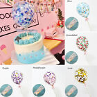5 Inch Transparent Confetti Latex Balloons Cake Insert Party Topper Baby Shower