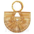 Women's Handmade Bamboo Bag Purse Beach Shoulder Bag Lady Large Handbag Tote Bag