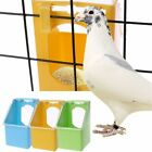 JD Pet Pigeons Water Food Feeder Bird Cage Hang Feeding Box Transparency Cover