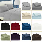Luxury 4 PCs Sheet Set 100% Egyptian Cotton 600 Thread Count 18'' Deep Pocket AS image