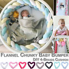 Infant Plush Crib Bumper Bed Bedding Crib Woven Protection Pad Pillow 1M/2.2M/3M
