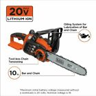 BLACK DECKER 20V Max Lithium Ion Chainsaw Cordless Battery Powered Cutting Tool