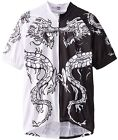 Dragon Tattoo Black / White Cycling Jersey Men's Short Sleeve 83 Sportswear